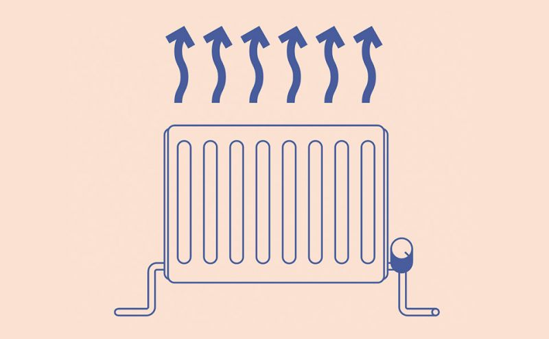 Illustration of domestic heating radiator