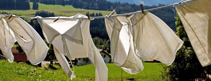 Laundry hanging outdoors on line