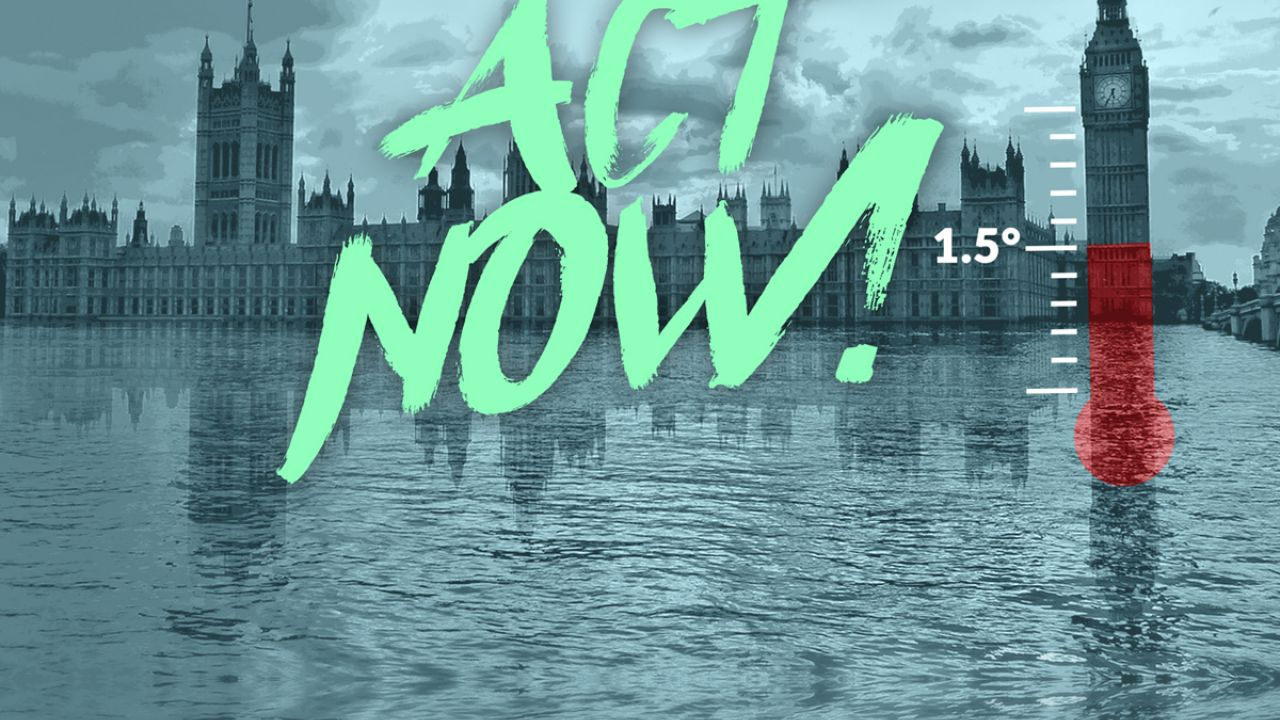illustration showing parliament and the words Act Now