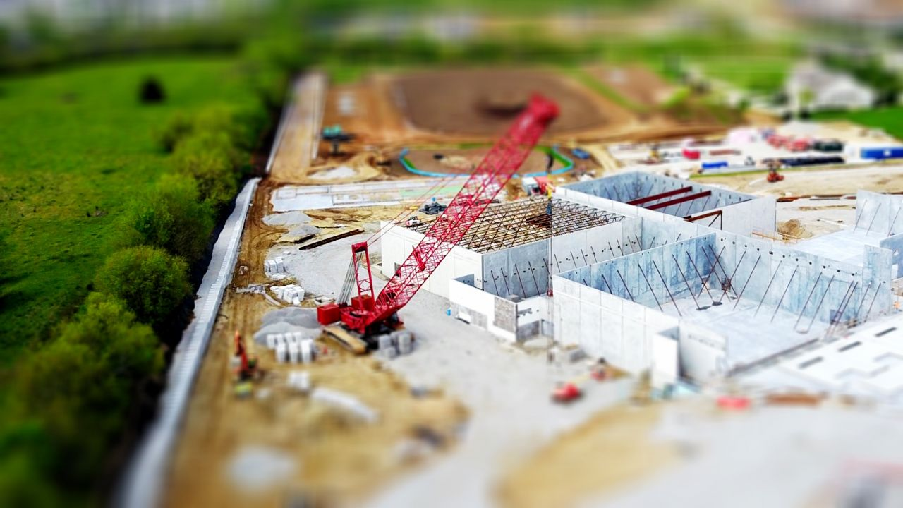 photo of model building site