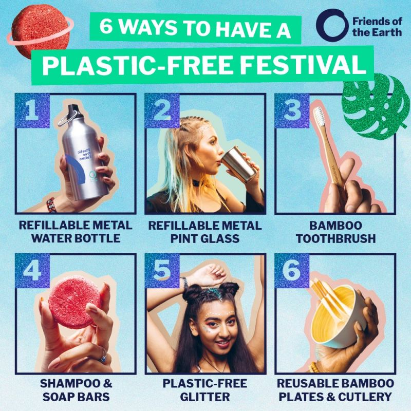 Image of plastic free festival tips