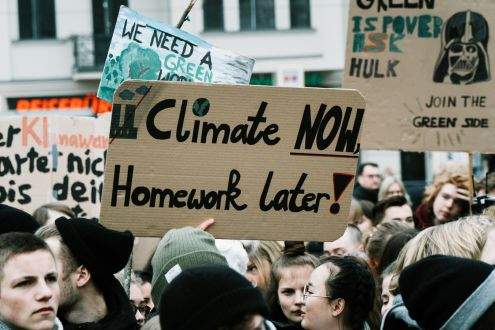 Climate now, homework later - climate strikes