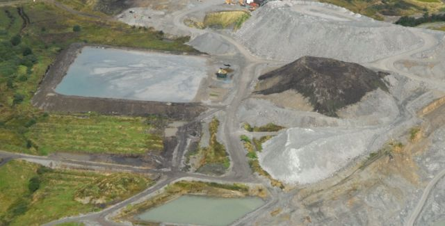 Aerial photo of Cacancaw gold mine, Co. Tyrone, Northern Ireland