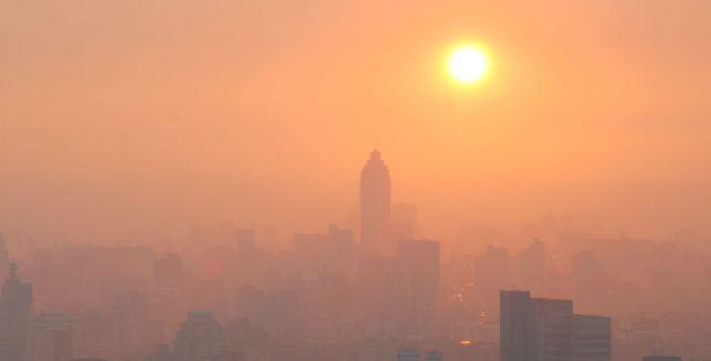 smog at sunset