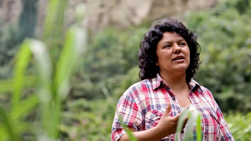The late Berta Cáceres pictured in the Honduran wildnerness