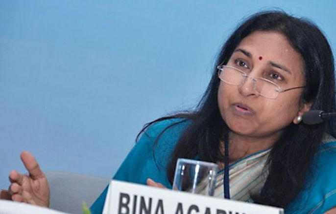 Bina Agarwal at a Conference on Innovation in Indian Agriculture 2014