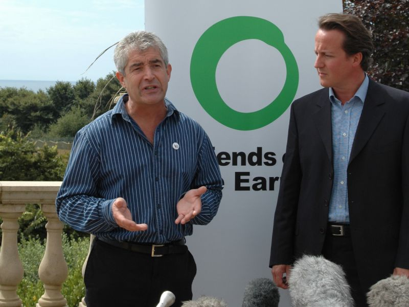 Climate Change Bill Press Conference: Tony Juniper , director of Friends of the Earth speaks alongside David Cameron at Press Conference at which the Consertative Party called for the Climate Change Bill to be included in the Queens speech. Devon, 1st September 2006