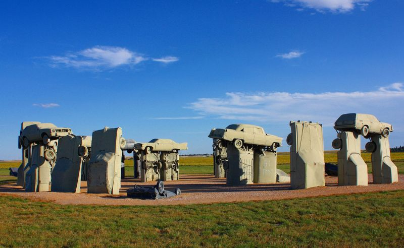 Copy of Stonehenge stone circle made from old cars