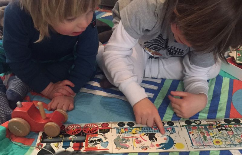 Children enjoying playing with plastic-free toys