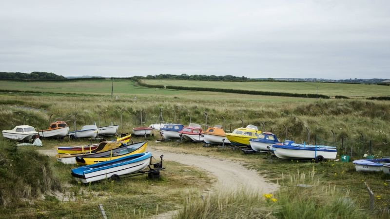 Boats at Druridge Bay