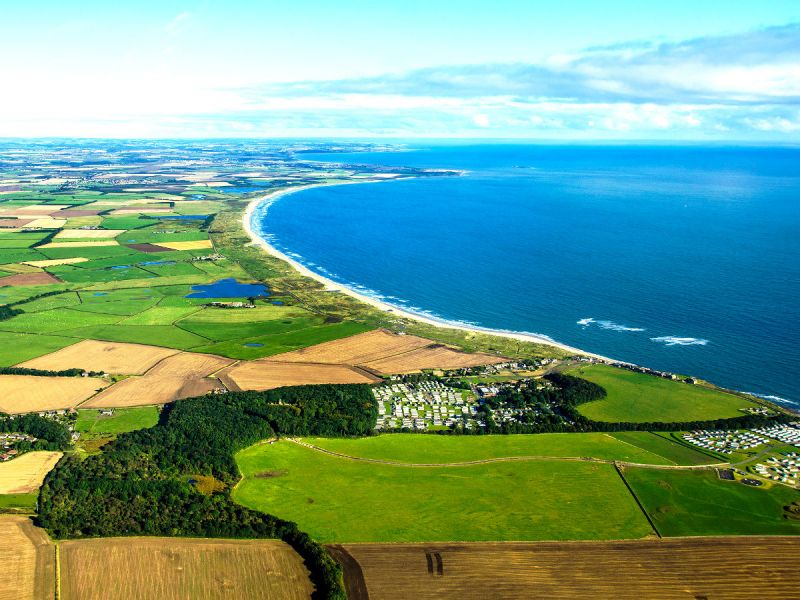 Druridge Bay view from above