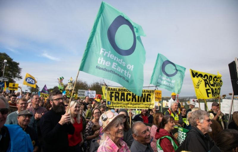 Fracking protest at Preston New Road