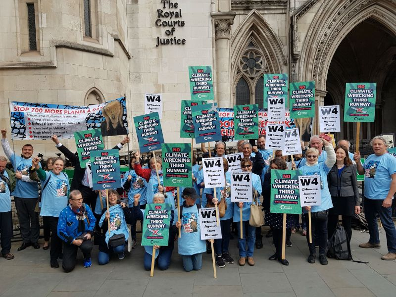 Heathrow demonstration outside High Court