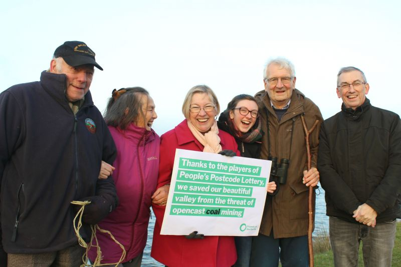6 members of United Valleys Action Group face camera and celebrate victory against Nant Llesg plans