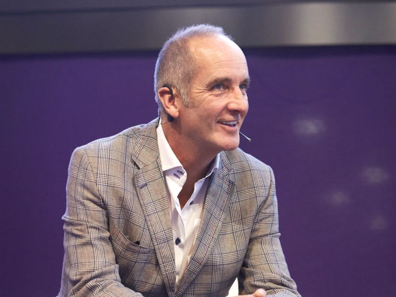 Kevin McCloud presenting at Grand Designs Live