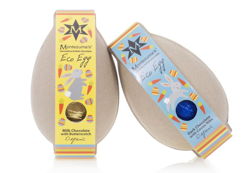 Two Montezuma's Easter Eco Eggs, in biodegradable paper shells
