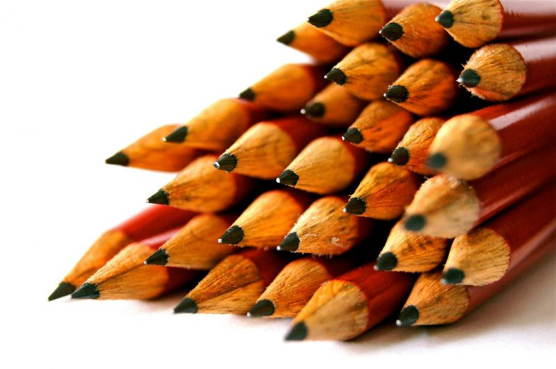 Wooden pencils, close-up