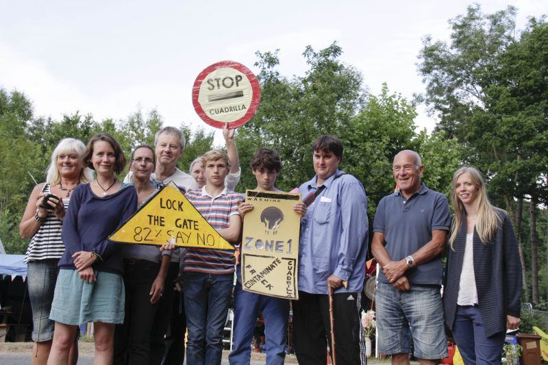 Balcombe residents protest against oil exploration