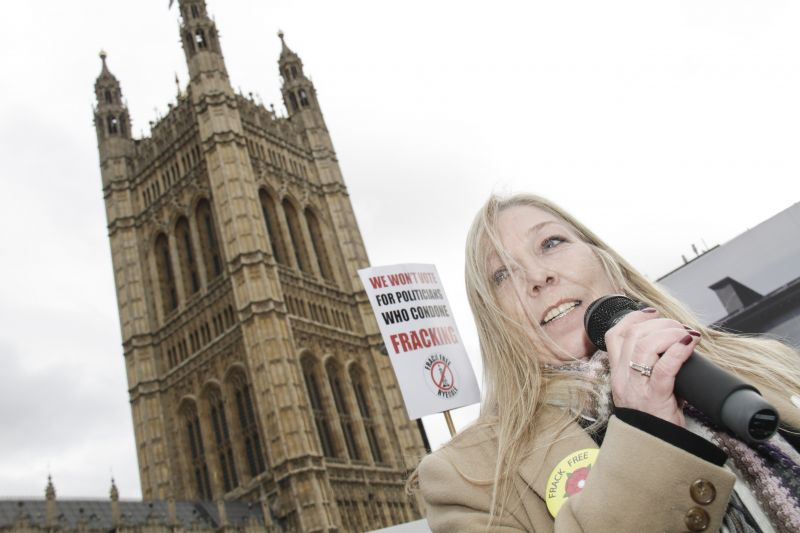 Tina Louise Rothery outside parliament