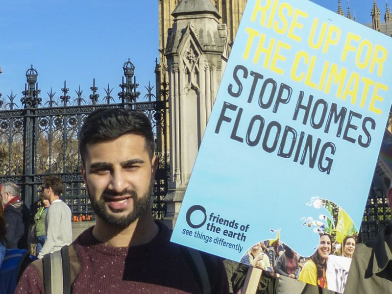Climate March 2015 - stop homes flooding banner
