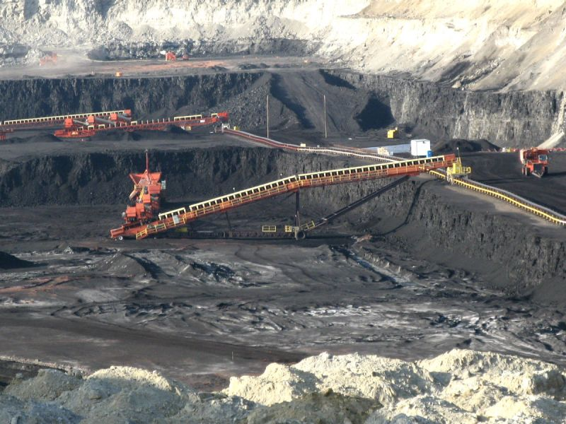 Surface coal mine in Wyoming, USA
