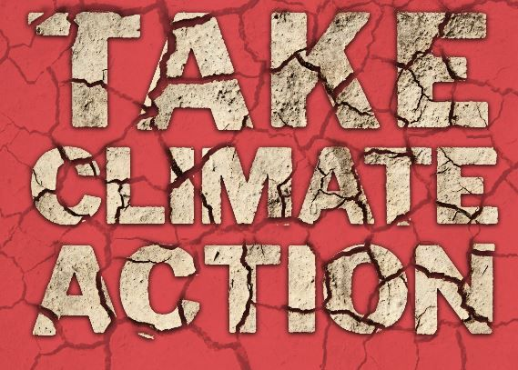 Take Climate Action placard