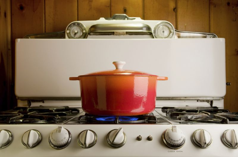 casserole dish on a stove