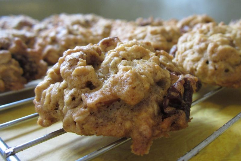 cheap and filling oat fritters on a cooling rack