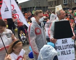 Clean Air Week of Action parade Darlington Friends of the Earth with coffin