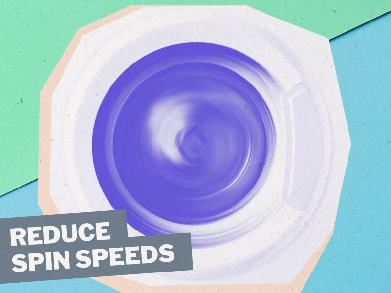 Microfibres: Tip 4: Reduce spin speeds
