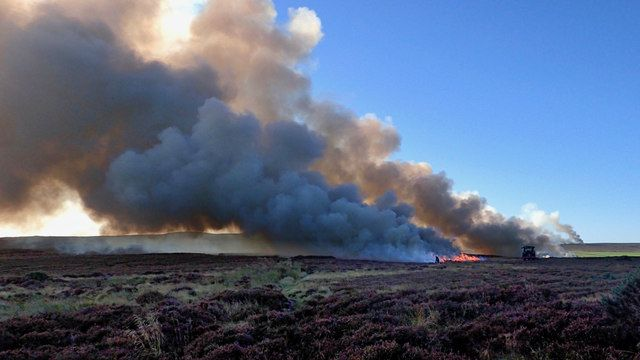 photo of moor burning at Stanghow Moor