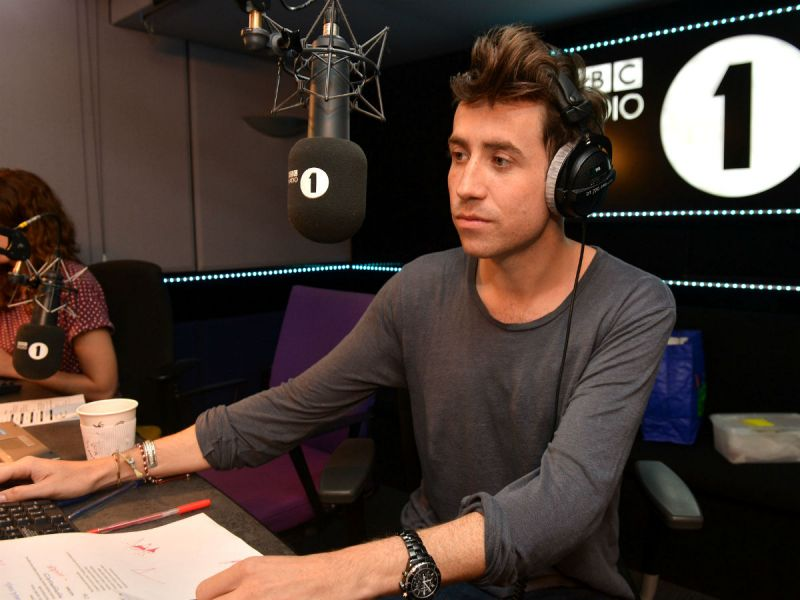 Nick Grimshaw presenting his Radio 1 Breakfast Show on 24 Sept. 2012