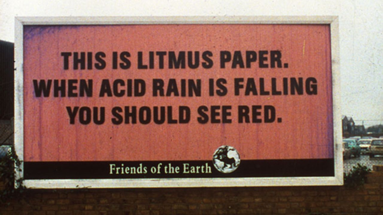 Acid rain - the litmus paper billboard