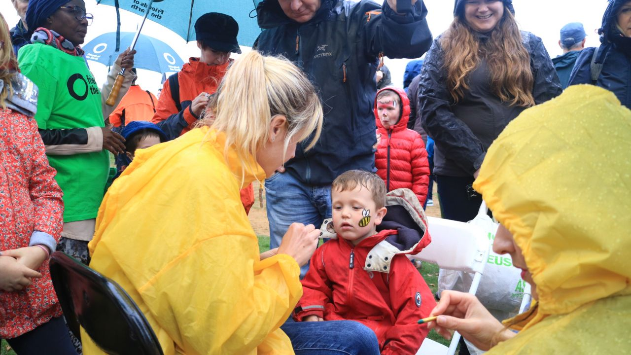 People's walk for wildlife - face painting