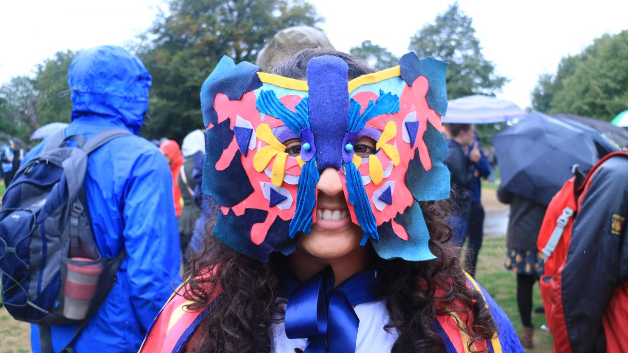 People's walk for wildlife - butterfly mask
