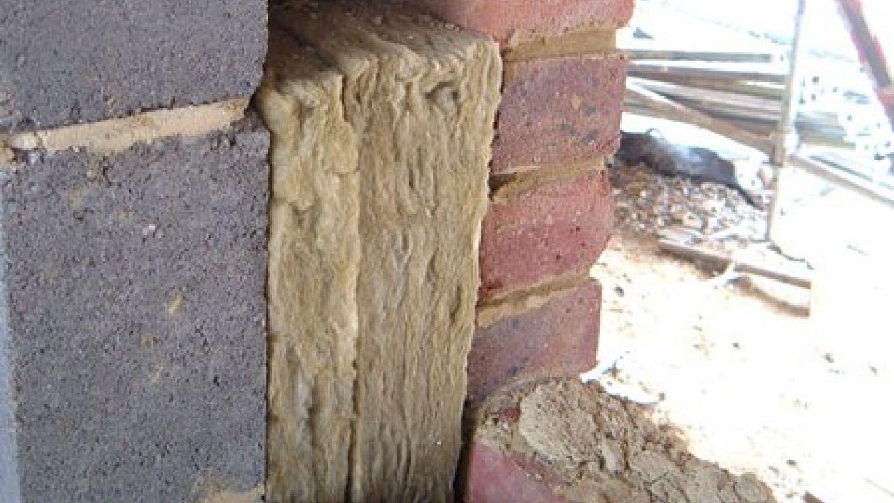 A close up of cavity wall insulation
