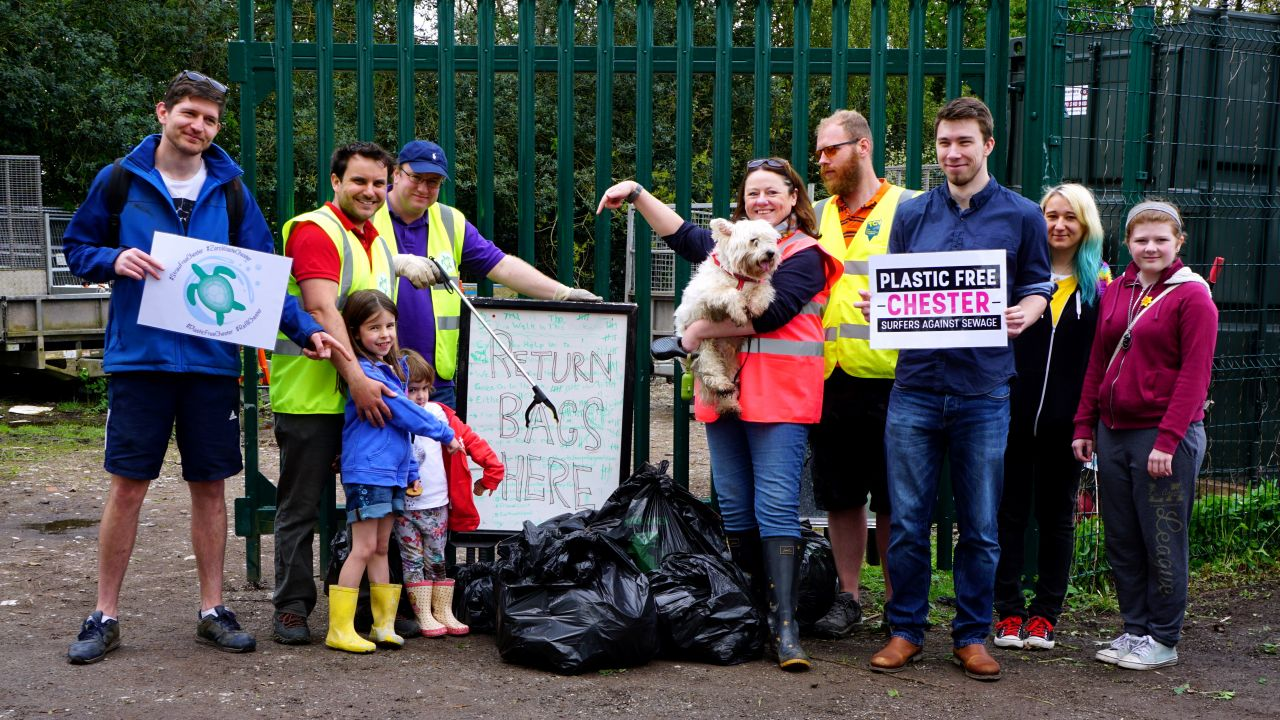 Litter pick by Chester local group