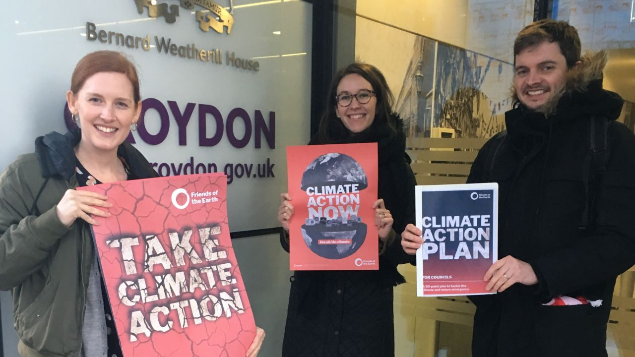 Croydon Climate Action group give Climate Action Plan to Croydon council