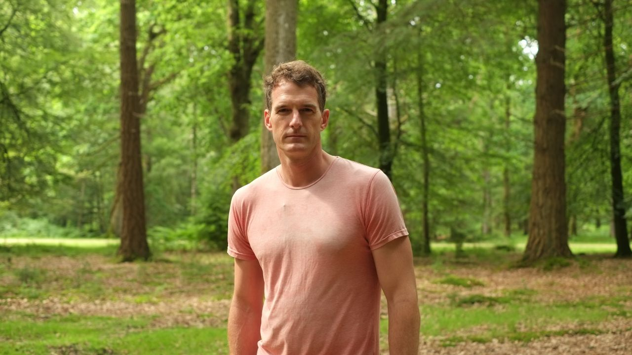 Dan Snow in the woods