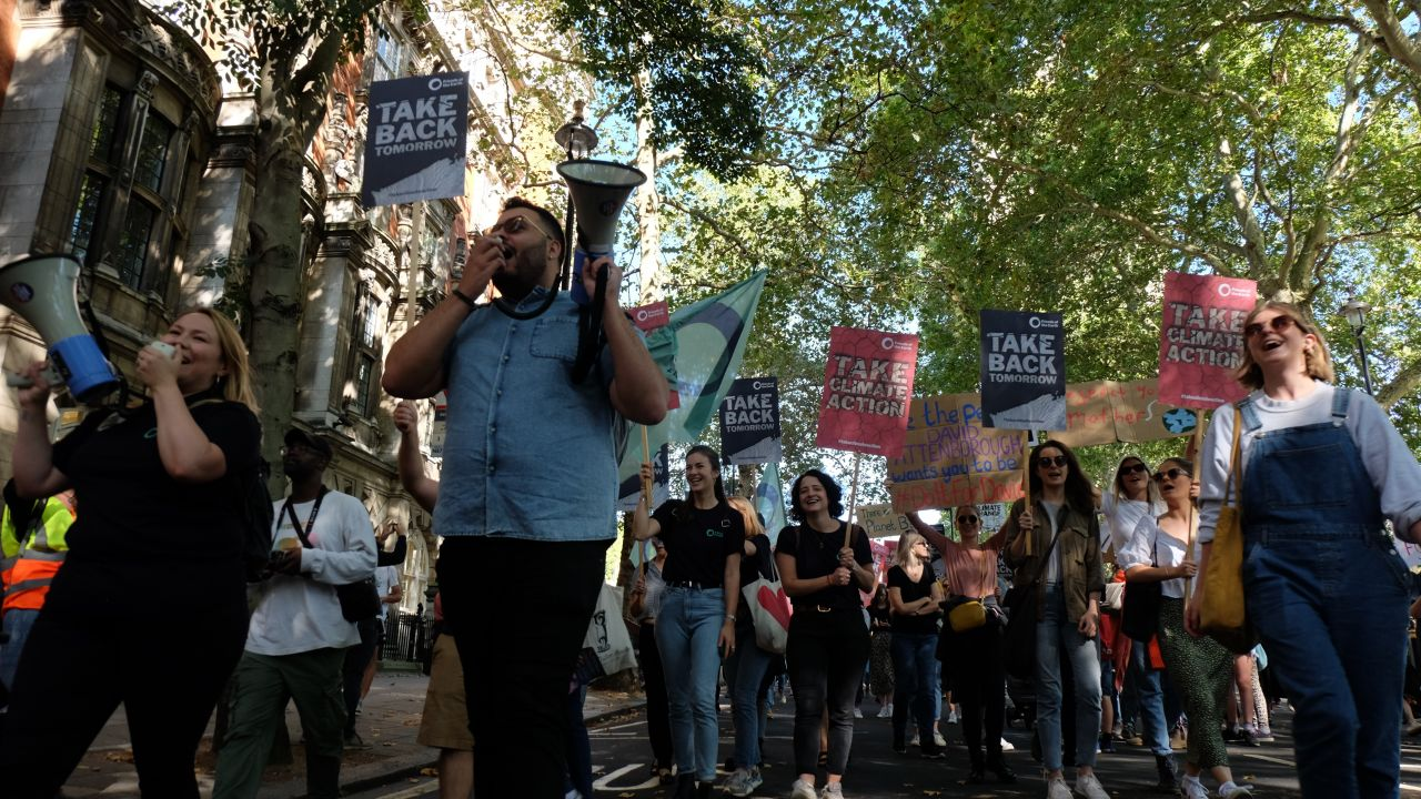 Youth strikers at the Global Climate Strike, 20 September 2019