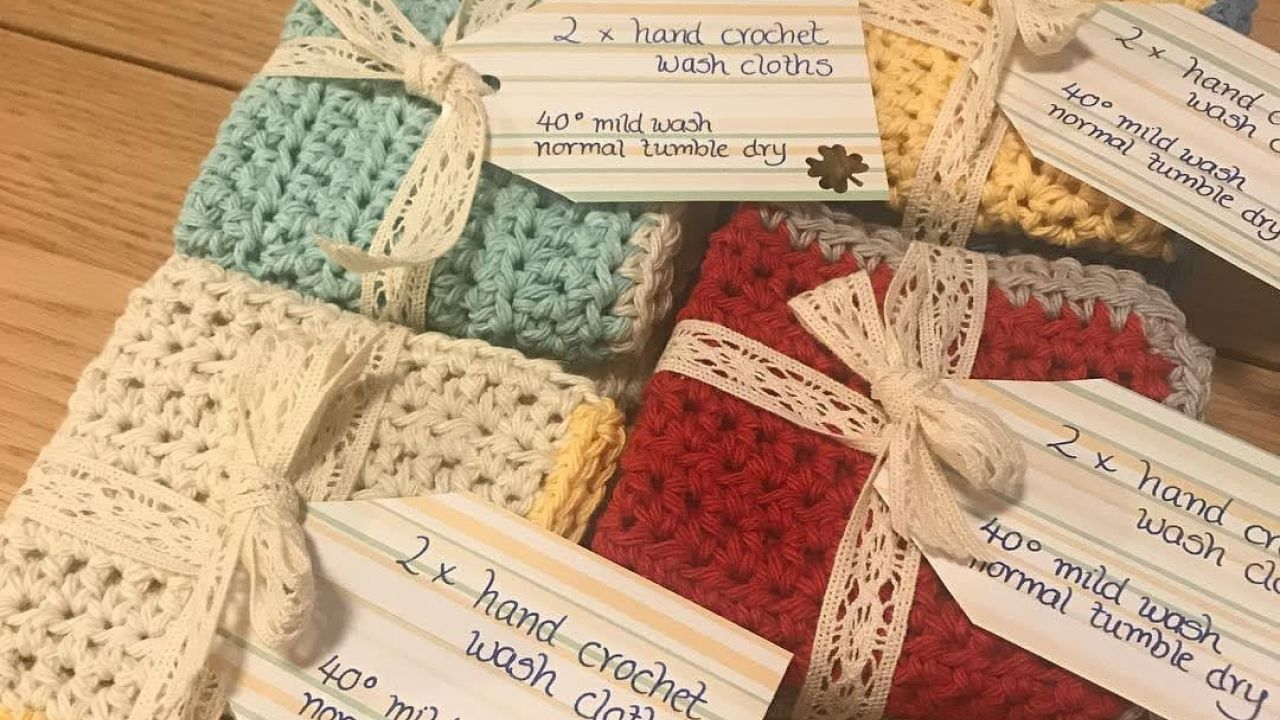Hand crochet wash clothes