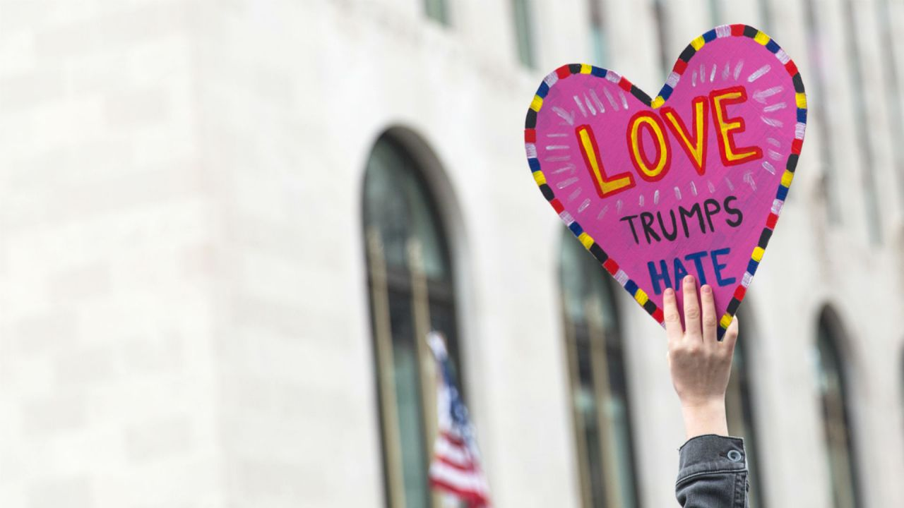 Love Trumps Hate, Women's March 2017 Washington DC