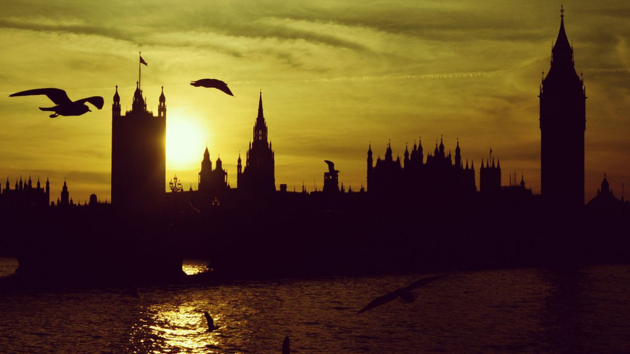 Houses of Parliament, Westminster, at sunset