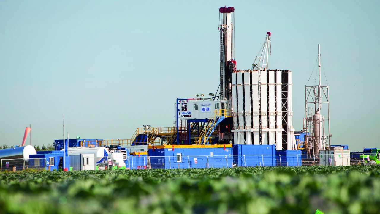 The Cuadrilla fracking site at Preston New Road, Lancashire