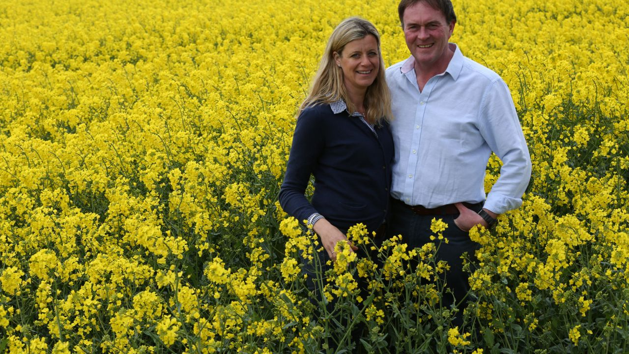 Sam and Claire Fairs of Hillfarm Rapeseed Oil