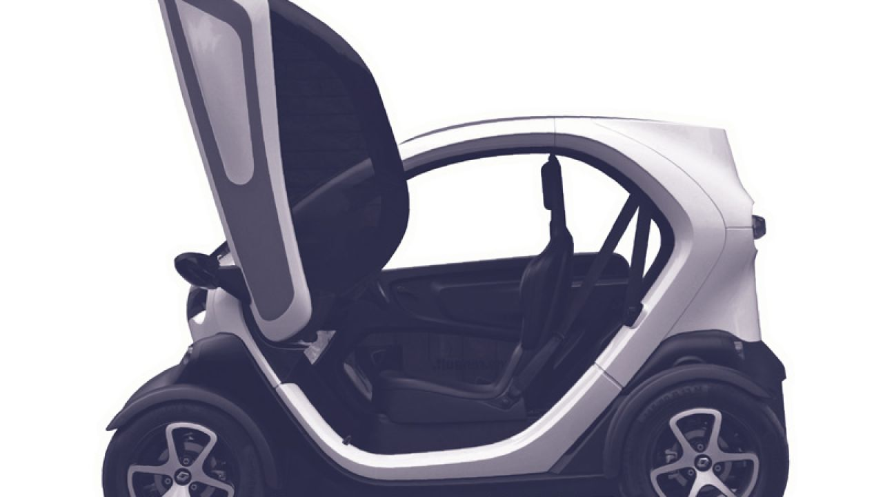illustration of small electric car