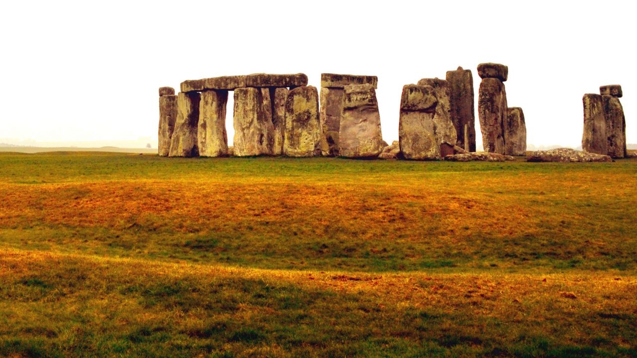 Stonehenge stone circle and surrounding landscape