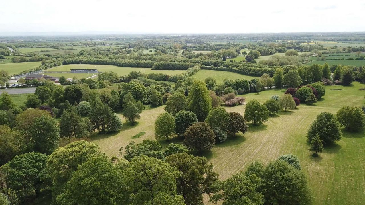 Aerial view of the existing Blackwell Grange parkland