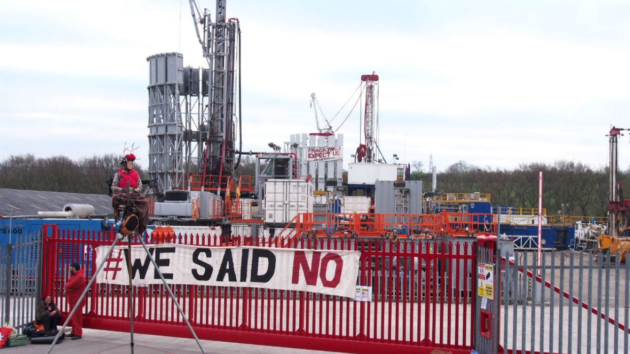 Anti-fracking demonstrators shut down Chesterfield drilling company