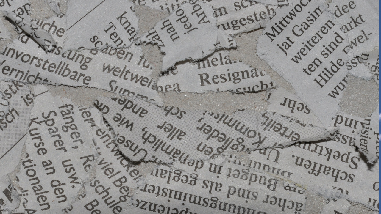 Old newspaper ready for craft project